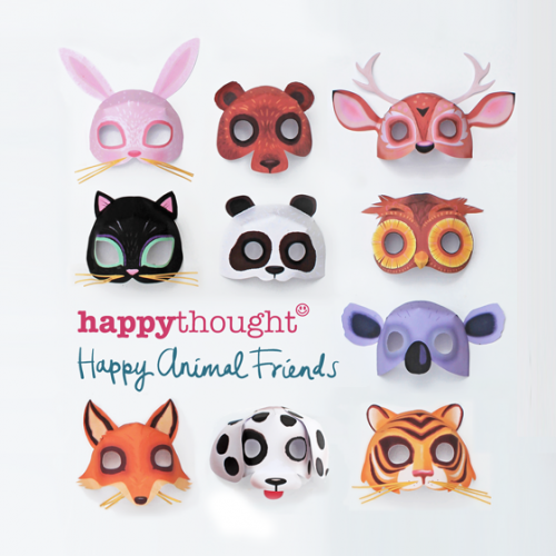 10 happy family animal mask templates to download, print and make