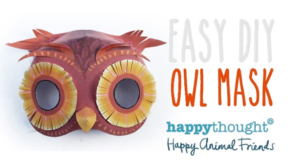 How to make a paper owl mask with dress up costume tips too.