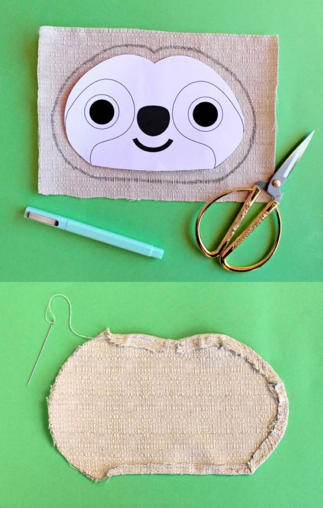 1-hoody-sloth craft costume activity