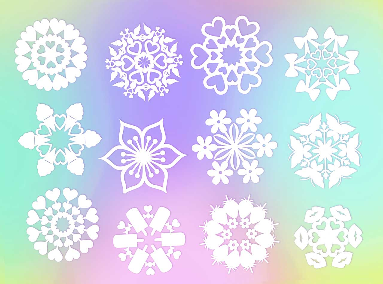 10 DIY make at home-Valentine snowflake patterns