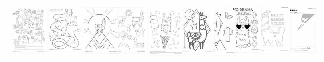 10 llama color in sheets home activity pdf download