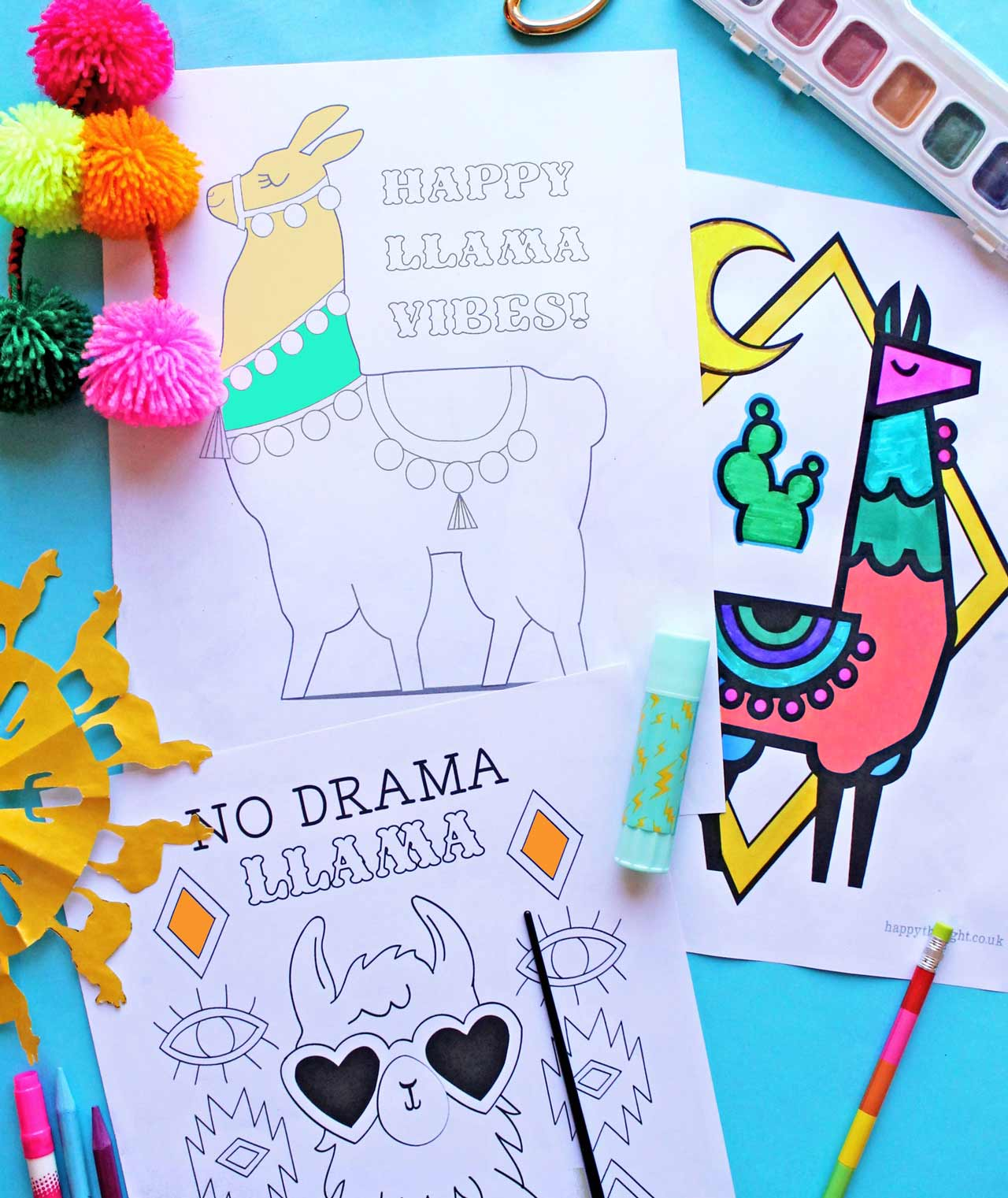10 llamas pages to print download and use instantly