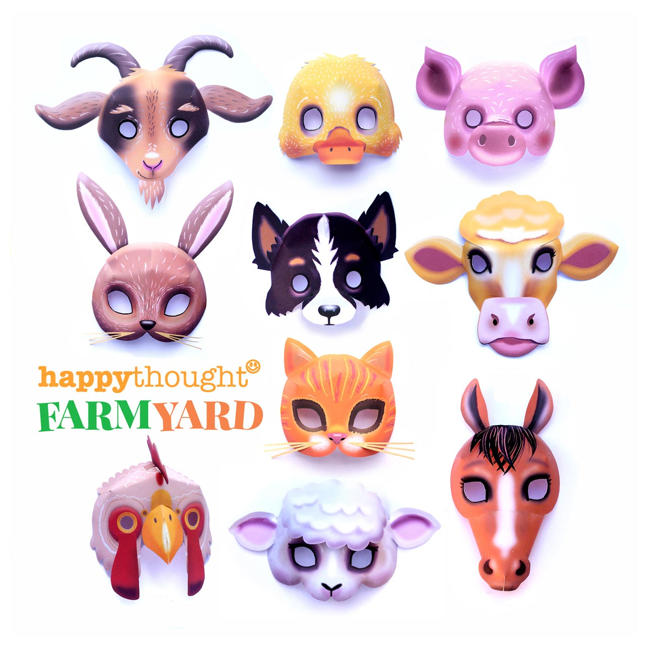 photo regarding Cow Costume Printable named 10 printable farm animal masks