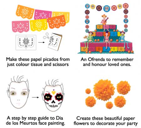 Dia de los Muertos printables. 23 cool DIY ideas + templates!