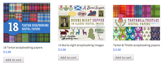 Burns Night Supper and Scottish themed digital and traditional scrapbooking papers for celebrating all things Scottish.