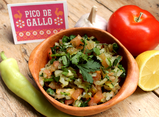 How to make pico de gallo, some favourite ingredients are tomato, chile, garlic!