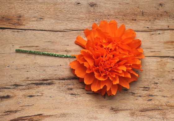 mexican paper flowers orange crepe paper craft