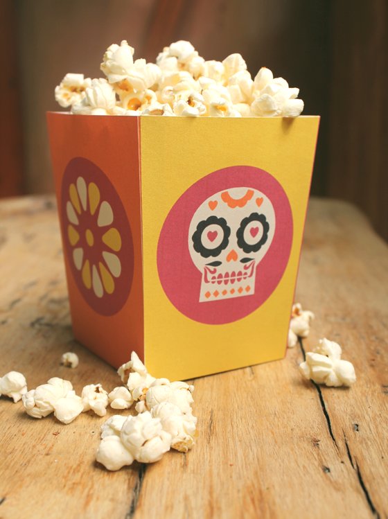 Day of the Dead spicy popcorn printable