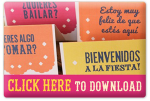 day of the dead vocabulary printable english spanish signs