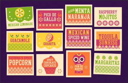 12 free printable signs for a Mexican food and drink themed party!