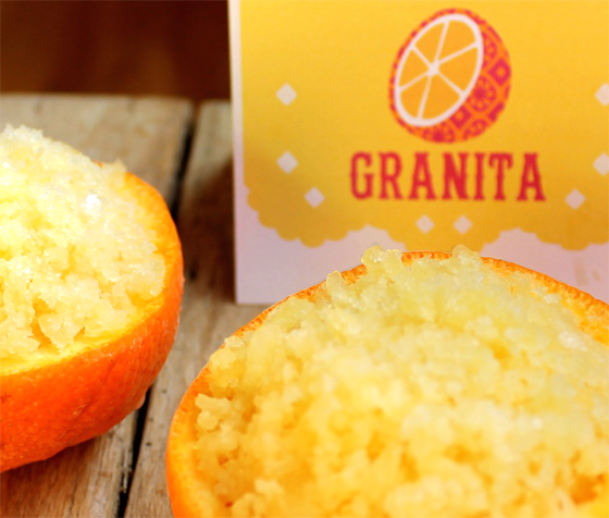 How to make orange granita for a Day of the Dead recipe!