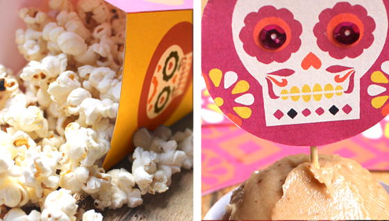 popcorn cupcake image for day of teh dead