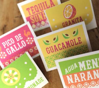Printable signs: Food & Drink