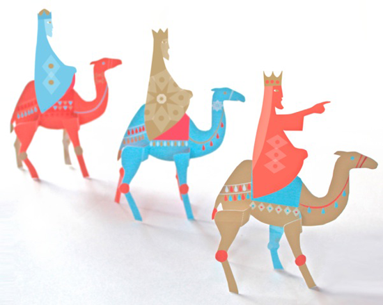 three kings paper craft for folksy printable and by post