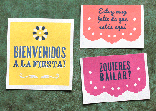 Day of the dead or dia de los muertos - Vocabulary printables for parties