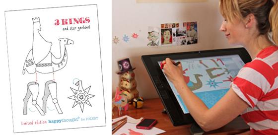 ellen deakin drawing cintiq paper crafts