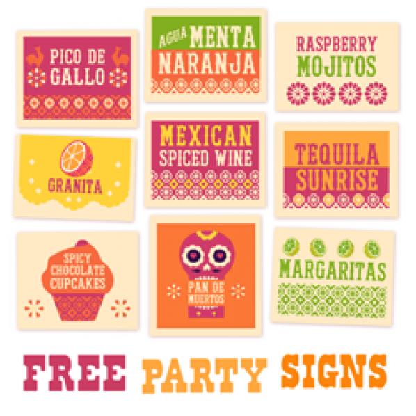 Free printable signs: Food & Drink