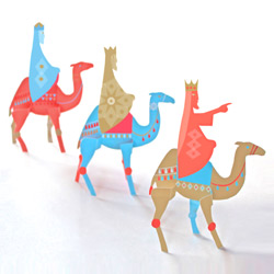 three kings christmas paper craft decoration folksy