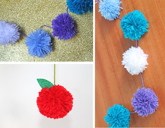 pom pom craft tutorial for the snowman and snowdog film