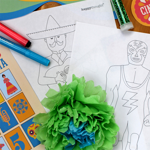 Cinco de Mayo coloring in activity