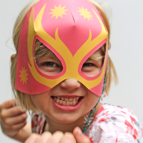 Unisex lucha libre paper mask templates to print out!