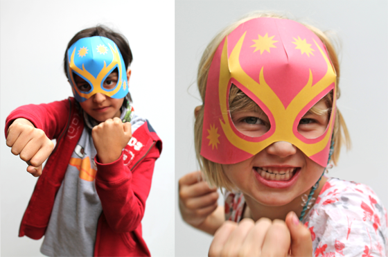 how to make lucha libre masks for children