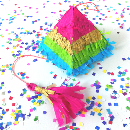 how to make a pinata or rainbow confetti Piñata for cinco de mayo fiesta