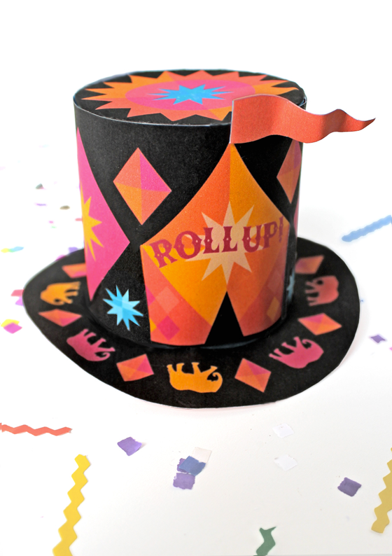 Circus top hat: Mini circus top hats roll up roll up!