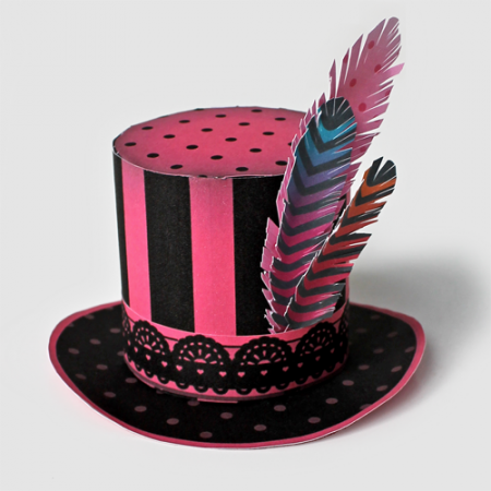 burlesque mini paper top hats for any occasion