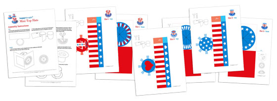 3 mini paper hat templates for fourth of july celebrations independence day