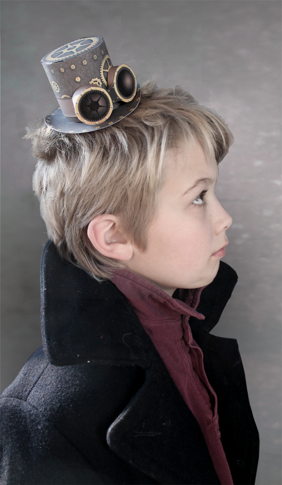 Mini paper Steampunk top hat to print out and make instantly!