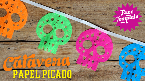 Papel picado calaveras template and patterns for papel chino!