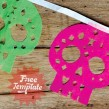 Easy to make papel picado calaveras