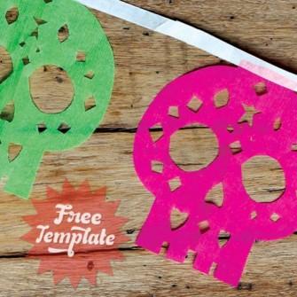 Make papel picado calaveras video