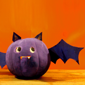 Cute Halloween pumpkin bat diy craft and tutorial.