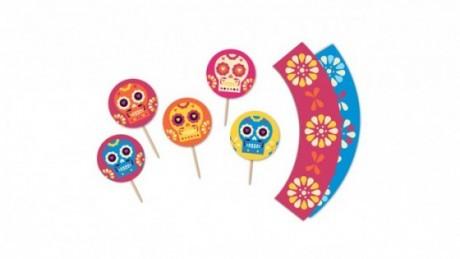 dia de los muertos printable templates cupcakes