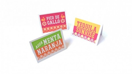 dia de los muertos templates food and drink signs
