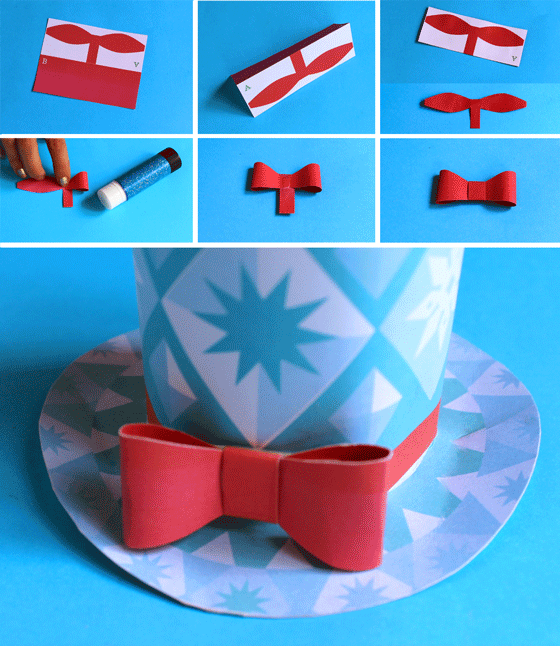 Festive paper hats for the Holidays - 3 DIY mini top hats