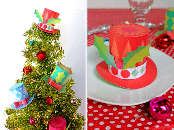 holiday craft ideas with hats paper cute