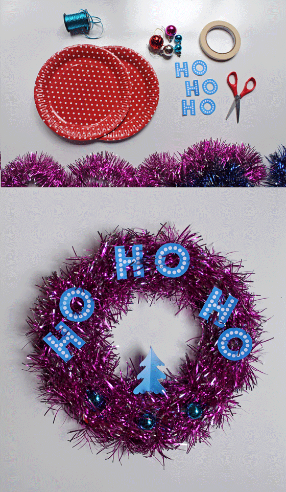 tutorial templates patterns make tinsel wreath diy easy