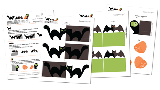 Animal Halloween printables: templates patterns diy print at home halloween!