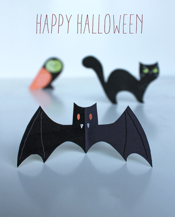 Cat owl pictures bat halloween printable templates!