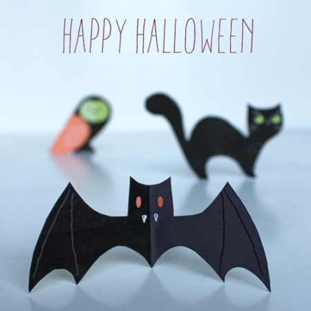 happy haunting halloween printables cute PDF templates