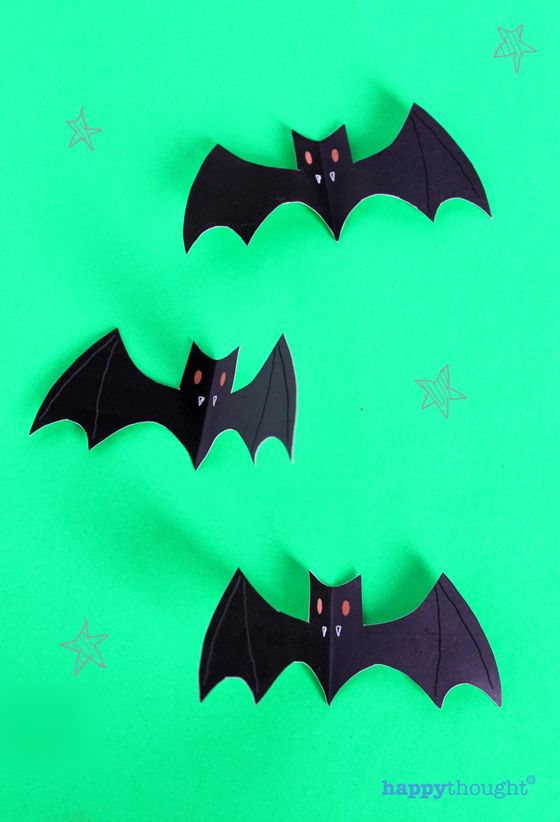 green bat halloween printable templates