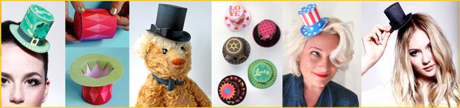 4a05a1469 Mini top hat ideas. Printable PDF templates. Party fashion DIY