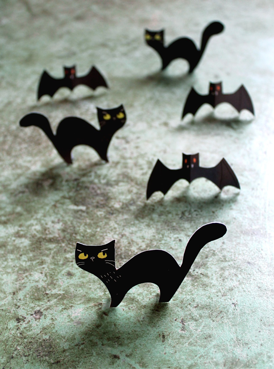 cat owl haunting bat halloween printable templates