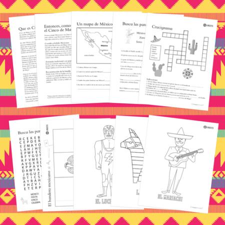 DIY craft paper hoja de actividades aprender y celebrar