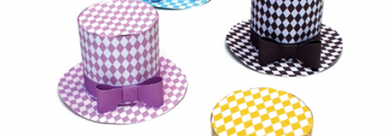 Paper diamond party hat pattern