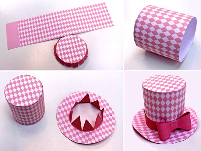 d3bb3955f0c Cute fun Diamond mini top hat  5 DIY printable. Easy to make!