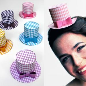 Diamond paper hats for fashion